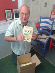 Simon Dawson sees his new book for the first time!