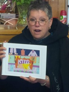 Jo Mortimer reads on the Story Trail